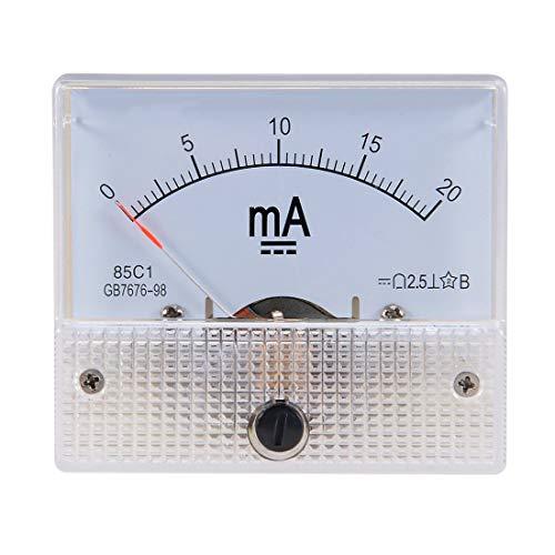 Aodesy 85C1-A Analog Stromzähler DC 20 mA Amperemeter für Schaltungsprüfung Ampere Tester Messgerät