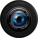 JL Spare Tire Cover Photography Zoom Camera Lens with Backup Camera Hole Black 33 in