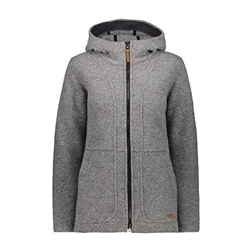 CMP Veste Full Zip Wooltech XL Grey M.