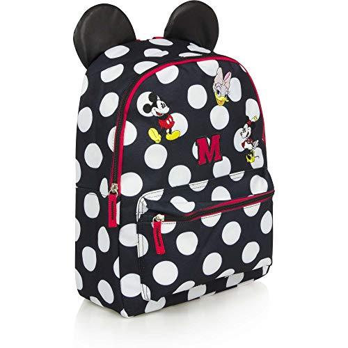 Disney Minnie Mouse Kinder-Rucksack Kinder Tasche Rosa mit Minnie Ohren