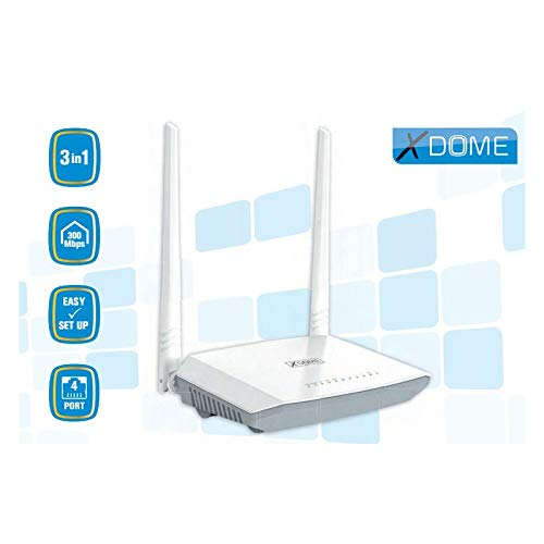 X-DOME - Modem Router Adsl2/2+ Router Wireless 300 Mbps 4 P - XD59000300