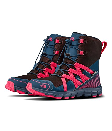 The North Face Junior Winter Sneaker - Blue Wing Teal & Atomic Pink - 4