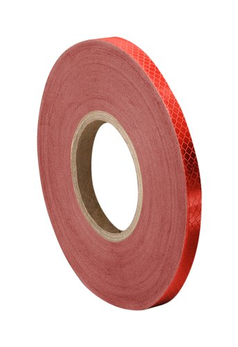 3M 3432 Red Reflective Tape, 1' width x 5yd length (1 roll)