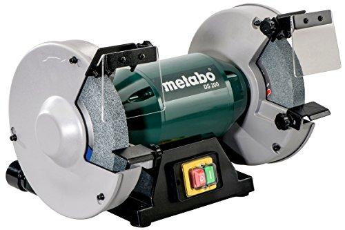 Metabo 619200000 Doppelschleifmaschine DS 200 | Normalkorund Scheiben 36 P/60 N, Funkenschutzgläser, Auflage, Sechskantschlüssel (Schleifscheiben Ø x Dicke x Bohrung 200 x 25 x 32 mm)