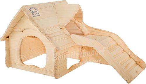 Resch Nr28 Nagervilla naturbelassenes Massivholz aus Fichte/mit breiter Treppe zur oberen Etage/mit 3 Eingängen, im einzigartigen Softline-Design