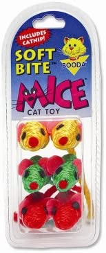 High material Petmate Soft Bite Cat Toy Mice Sisal Small Fort Worth Mall 6-Pack