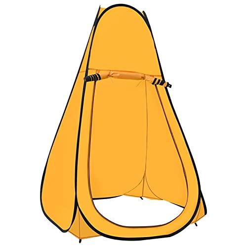 Tidyard Carpa de Ducha Emergente Cabina Cuarto de Baño Tienda Vestir Cambio Inodoro Instantánea Campamento Camping Exterior Playa Senderismo Portátil Amarilla