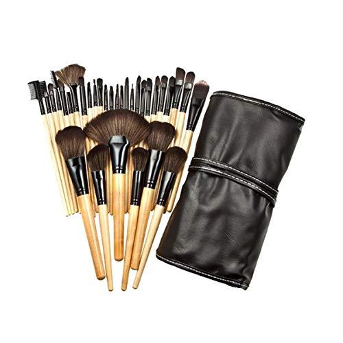 empty Maquillage Brosses 1 Set Professionnel pinceaux de Maquillage Fard à paupières Poudre Cils pinceaux de Maquillage avec Sac + cosmétique Éponge GAGEAA (Color : 32Pcs, Size : One Size)