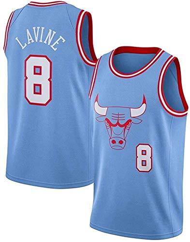 WSUN Zach LaVine 8# NBA Chicago Bulls Herren-Basketballtrikot NBA Unisex Ärmellose Oberteile Outdoor-Sportwettbewerb Anzüge Basketballweste,XL