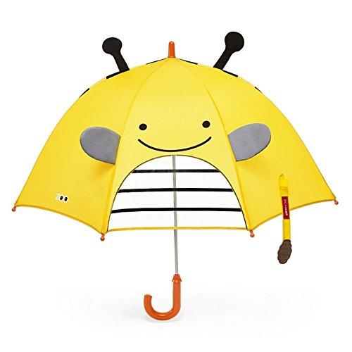Skip Hop Zoo Regenschirm, für Kinder, mit Sichtfenster und 3D-Ohren, mehrfarbig, Biene Brooklyn