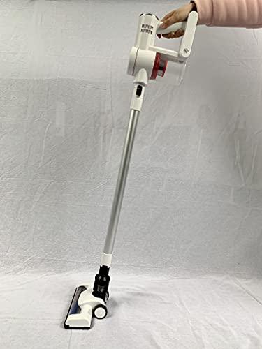 コードレス掃除機 22000Pa 伸縮型パイプ スティッククリーナー 強弱切替 壁掛け付きPSE認証済 white