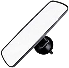 """PME 9.8"""" Day/Night Rear View Mirror, Universal Car Truck Mirror Interior Rear View Mirror Suction Cup Rearview Mirror - Deluxe Version,Plain Mirror"""