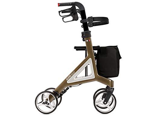 Bischoff Alevo Alu Leichtgewichtrollator Rollator • Integrierte Reflektoren • Rückengurt • abnehmbare Tasche