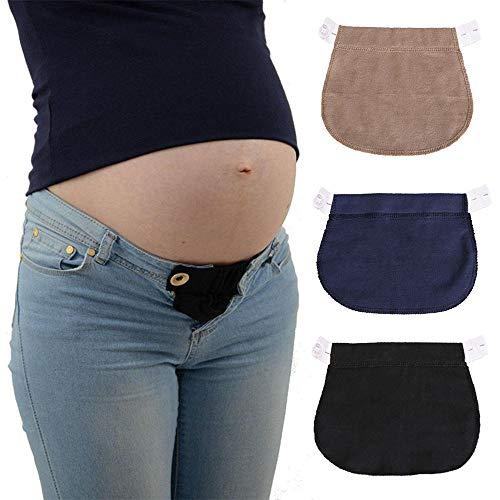 KOBWA KOBWA Damen Hosenerweiterung,Bequeme Hosenerweiterung für Schwangere Bauchband Hoseneinsatz die Mutterschaft Lösung Verstellbare Elastische Mütter Schwangere Frauen