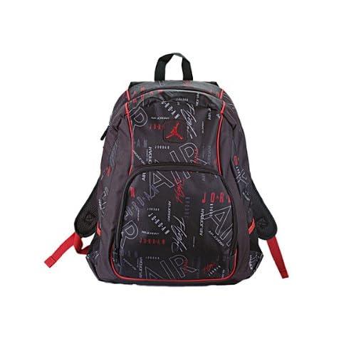 c72934f91675 Jordan Boys Black   Red Print Backpack (Print)