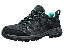 riemot Wanderschuhe Trekkingschuhe Damen Wasserdicht, Leichte Outdoor Laufschuhe Trailrunning Shoes, Atmungsaktiv Trekking-& Wanderhalbschuhe Walking Schuhe Grün 40 EU