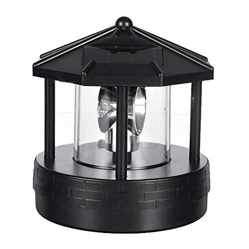 Aaffiry Solar Betrieben Leuchtturm, LED Drehbar Leuchtturm Garten Licht Garten Rasen Lampe, Deko Terrasse Dekorativ Licht für Außen Heim