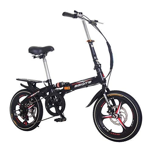 Bicicleta para niños - Bicicleta con Pedales para niño y niña, RRueda de radios con amortiguación de Velocidad Variable integrada, 14,20 y 16 Pulgadas, 4 Colores,Negro,16INCH