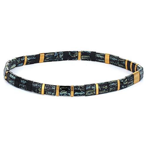 KELITCH Bracelet De Perles Miyuki Tila Fait À La Main Bracelet De Brin De Fil Bracelets pour Femmes Réglables De Branché Cadeux