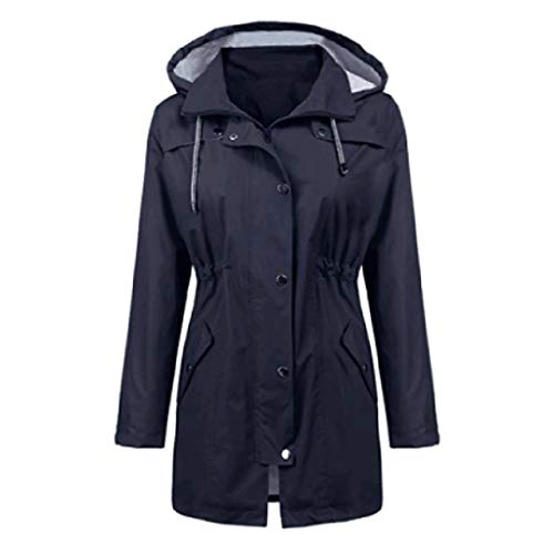 Best Bargain HebeTop Raincoat Women Waterproof Long Hooded Trench Coats Lined Windbreaker Travel Jac...