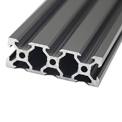 Iverntech 1 x 300 mm 2060 V, tipo europeo, profilo in alluminio anodizzato nero, guida per stampanti 3D e macchina per incisione laser CNC
