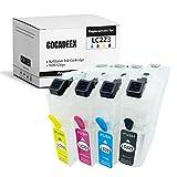 COCADEEX LC223 Cartucho de tinta recargable vacío para Brother LC221 LC223 LC225 LC227 LC221XL LC223XL LC225XXL LC227XXL