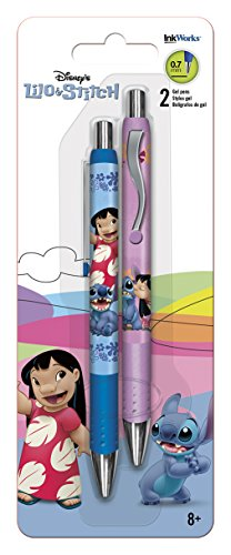 InkWorks Lilo and Stitch 2 Pack Gel Pens, 2 Count (Pack of 1)