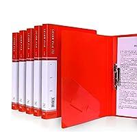 5パッククリップボード - A4 / Foldover Flap、Portfolio Organizer A4クリップボード (Color : Red)