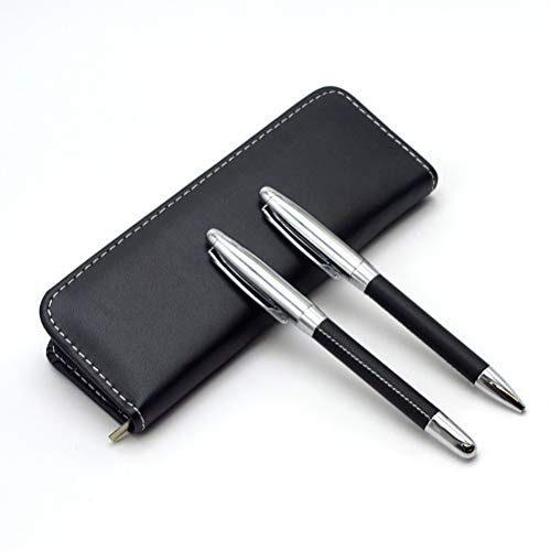 Gift Metal Ballpoint Pen Set with Box-2 Pcs Blue Ink Luxury Ballpoint Pens Signature and Holiday Gifts