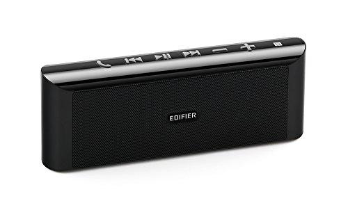 Edifier MP233 BK mobiler tragbarer Bluetooth 4.0 Lautsprecher mit NFC, integriertem MP3-Player inkl. microSD-Karteneinschub und Telefonie-Freisprechfunktion, schwarz