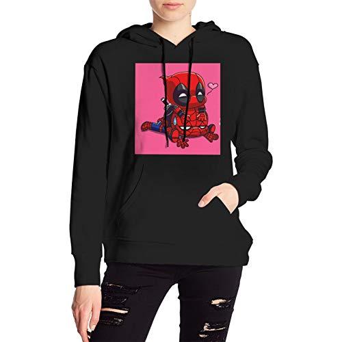 Spiderman Marvel Superhero Ladies Sweater Trendy Sports Hoodie Spiderman Print Pullover