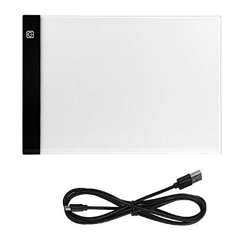 Redxiao 【 】 Panel de luz LED, A4 Tablero de Mesa de Dibujo Personalizado Duradero para niños Artistas con Suministros de Arte de Cable