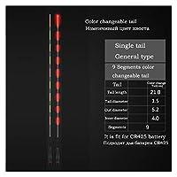電池なしの1ピースインテリジェント光学フロートテールインタフェース5.2mm色変更可能なテール電気ブイテール (色 : 31 color change tail)