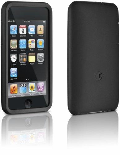 DLO 63061 Jam Jacket Silikon-Tasche/Schutzhülle für Apple iPod Touch 2.G/3.G inkl. Display- Schutzfolie schwarz