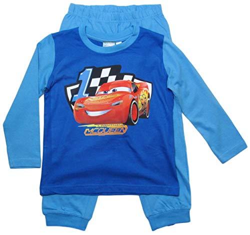Cars Disney 3 Kollektion 2018 Ökotex Standard 100 Schlafanzug 92 98 104 110 116 122 128 Jungen Pyjama Neu Lang Lightning McQueen (92-98, Blau)