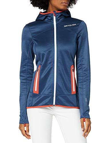 ORTOVOX Womens Hoody Fleece Jacket, Night Blue, M