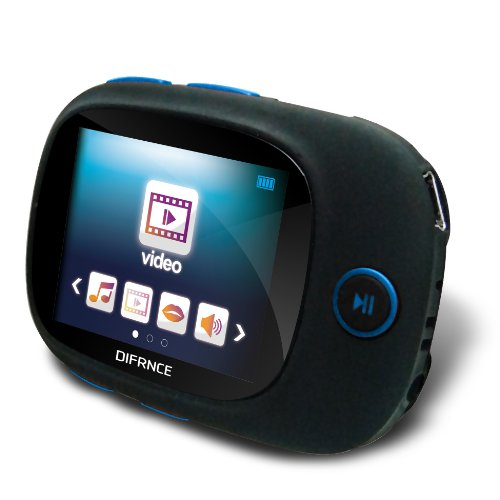 Difrnce MP1861 Sport MP4 Player 4GB (3,8 cm (1,5 Zoll) Display) schwarz/blau