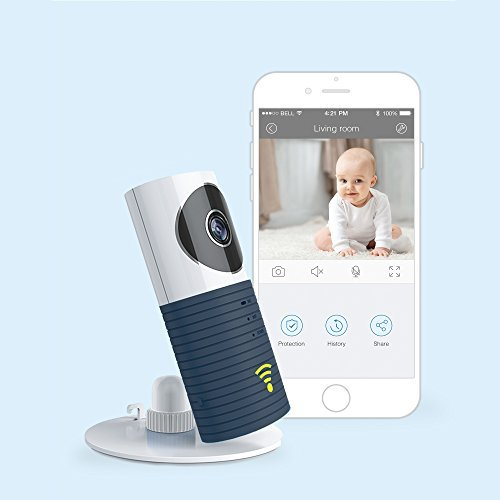 JTD Smart Wireless IP WiFi DVR Security Surveillance Camera with Motion Detector Two-Way Audio & Night Vision Best Security Camera Baby Monitor for Your Baby,Home, Pet or Business (Space Grey)