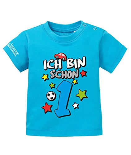 Jayess Shirt Ich Bin Schon 1 - Digital - Jungen - Baby T-Shirt in Blau by Jayess Gr. 80/86