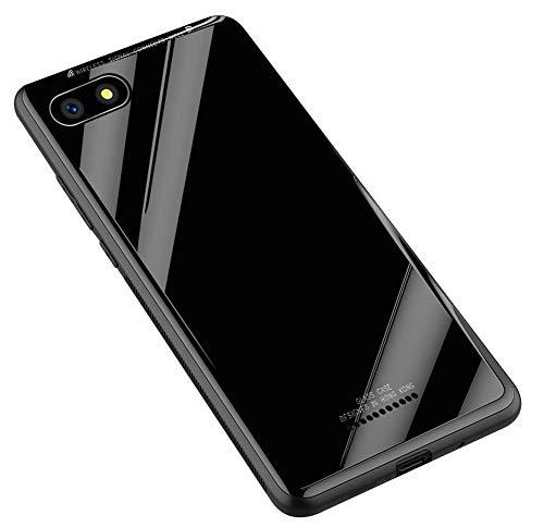 Kepuch Quartz Case Capas TPU &Voltar (Vidro Temperado) para Xiaomi Redmi 6A - Preto