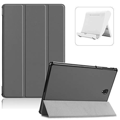 Shinyzone Hülle für Samsung Galaxy Tab S3 9.7 Zoll SM-T820/T825/T827,Ultradünn Superleicht PU Leder Dreifach Ständer Smart Cover mit Auto Wake/Sleep Funktion + Handyhalterung,Grau