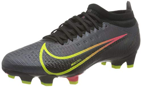 Nike Vapor 14 Pro FG, Football Shoe Hombre, Black/Cyber-Off Noir-Rage Green-Siren Red, 42 EU