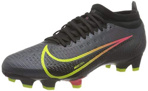 Nike Vapor 14 PRO FG, Scarpe da Calcio Unisex-Adulto, Black/Cyber-off Noir-Rage Green-Siren Red, 44 EU