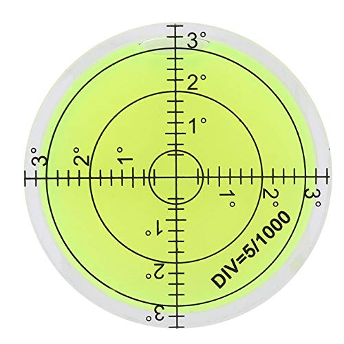 Inclinómetros de burbuja de nivel de ojo de buey redondos de 2,4 pulgadas con escala para escala de plataforma de cámara