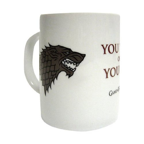 Taza cerámica con diseño You Win Or You Die