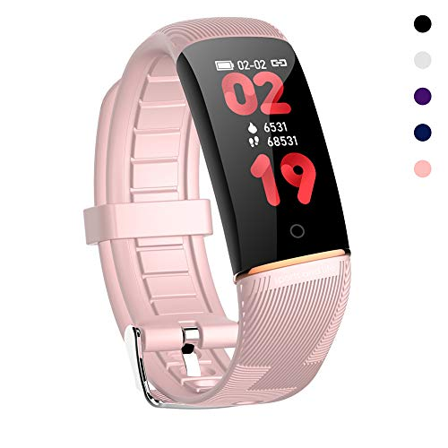 OOLIFENG Fitness Tracker, Kleurenscherm Activiteit Horloge Waterdicht IP67 met Hartslagmeter Smartwatch voor Kinderen Vrouwen en Mannen Bel SMS SNS Kennisgeving