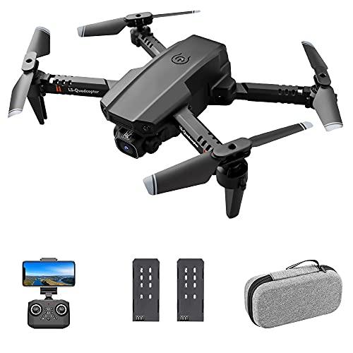 skrskr LS-XT6 RC Drone con Fotocamera 1080P Telecamera Traccia Volo Sensore di gravità Gesto Foto Video Altitudine Tenere modalità Senza Testa Quadricottero RC per Adulti Bambino