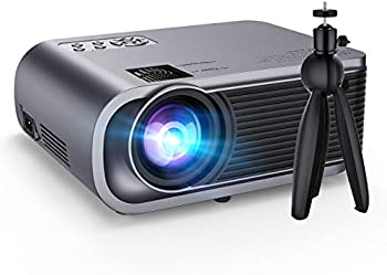 VicTsing Full HD 1080p 5500-Lumens Portable Projector with Tripod