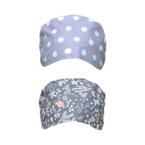 TENDYCOCO 2 Piezas Gorras Quirúrgicas para Matorrales Sombreros Quirúrgicos Gorras de Matorral Ajustables de Algodón Gorras de Médico Enfermera para Mujeres Hombres