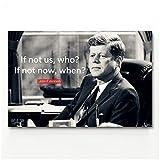 John F. Kennedy Minimalismus Wandkunst Bild Typografie